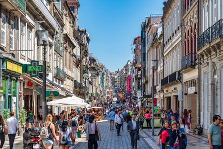 Portuguese Architecture and Street Scene in Porto
